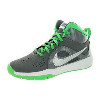 Nike Kid's Team Huse D 6 (Ps) Dark Grey/Metallic Silver/Light Green Sprk Basketball Shoe