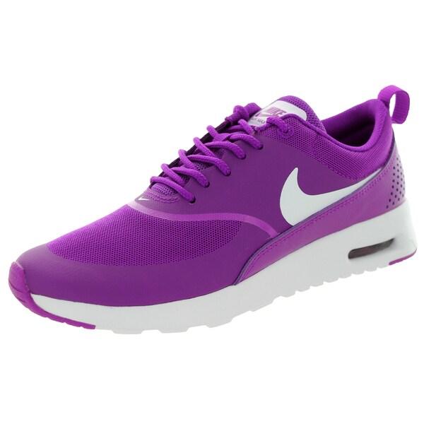 Shop Nike Women's Air Max Thea Vivid PurpleWhite Running