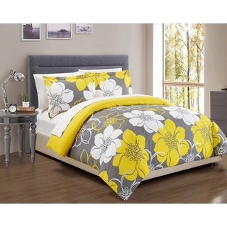 Chic Home 3-Piece Celosia Yellow Duvet Cover Set