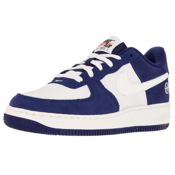 Shop Nike Kid's Air Force 1 (Gs) Deep Royal BlueSail