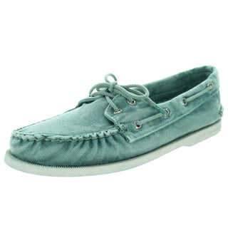 Sperry Top-Sider Men's Authentic Original 2-Eye Color Washed Turq Boat Shoe
