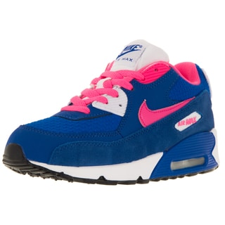 Nike Kid's Air Max 90 2007 (Ps) White/Hyper Pink/ Cblt/White Running Shoe
