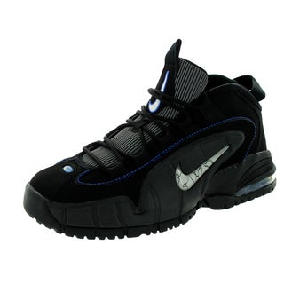 Nike Kid's Air Max Penny Le (Gs) Black/White/Metallic Silver Basketball Shoe