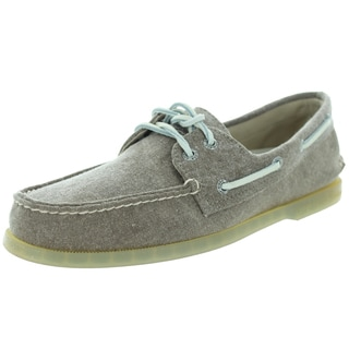Sperry Top-Sider Men's Authentic Original 2-Eye Stonewash Brown Boat Shoe