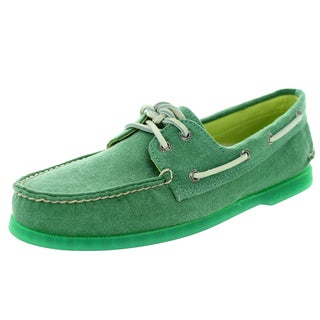 Sperry Top-Sider Men's Authentic Original 2-Eye Stonewash Green Boat Shoe