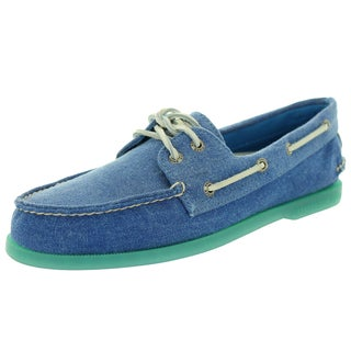 Sperry Top-Sider Men's Authentic Original 2-Eye Stonewash Blue Boat Shoe