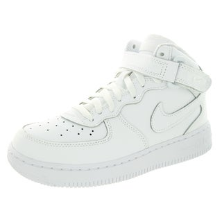 Nike Kid's Force 1 Mid (Ps) White/White/White Basketball Shoe