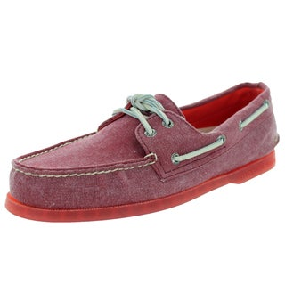 Sperry Top-Sider Men's Authentic Original 2-Eye Stonewash Red Boat Shoe