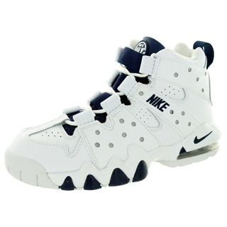Nike Kid's Air Max Cb '94 (Gs) White/Midnight Navy/Metallic Silver Basketball Shoe