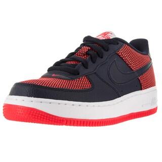 Nike Kid's Air Force 1 Premium (Gs) Brightt Crimson/Obsidian/White Basketball Shoe