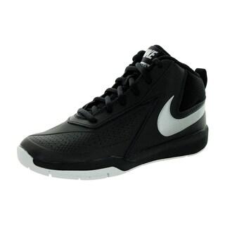 Nike Kid's Team Huse D 7 (Ps) Black/Mlc Silver/White/Black Basketball Shoe