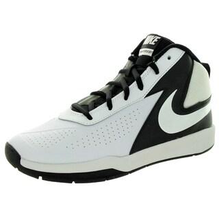Nike Kid's Team Huse D 7 (Gs) White/White/Black Basketball Shoe
