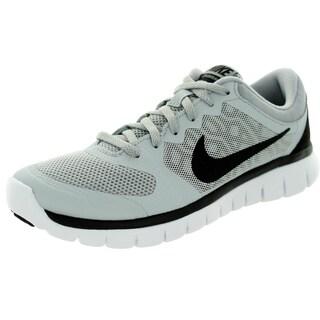 Nike Kid's Flex 2015 (Gs) Wolf Grey/Black White Running Shoe