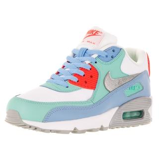 Nike Kid's Air Max 90 Ltr (Gs) White/Mlc Slver/Lksd/Artsn Running Shoe