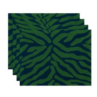 18x14-inch, Animal Stripe, Geometric Print Placemat (Set of 4)