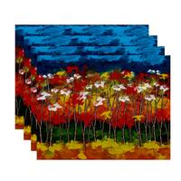 18x14-inch, Autumn, Floral Print Placemat (Set of 4)