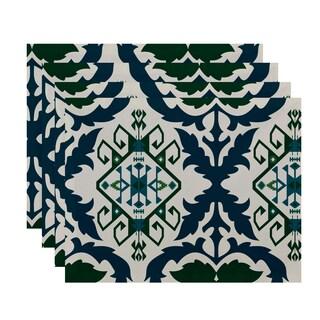 18x14-inch, Bombay 6, Geometric Print Placemat (Set of 4)