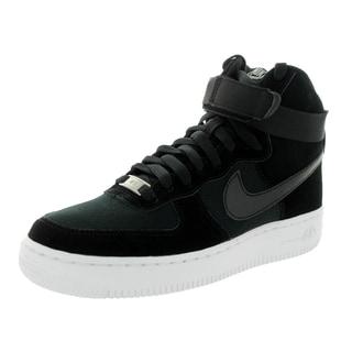 Nike Kid's Air Force 1 High (Gs) Black/Black/White Basketball Shoe