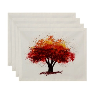 18x14-inch, Fall Bounty, Floral Print Placemat (Set of 4)