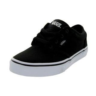 Vans Kid's Atwood (Canvas) Black/White Skate Shoe