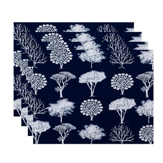 18x14-inch, Field of Trees, Floral Print Placemat (Set of 4)