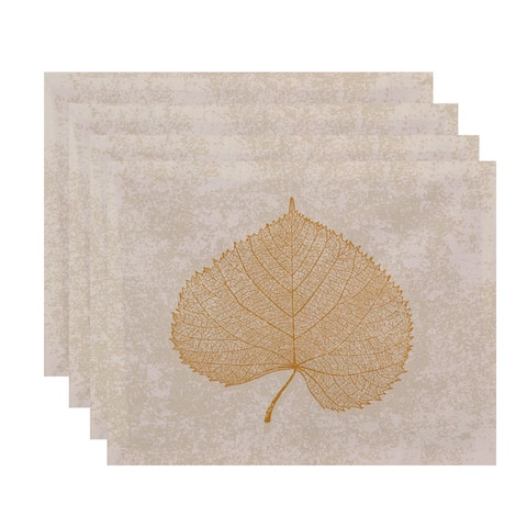 18x14-inch, Leaf Study, Floral Print Placemat (Set of 4)