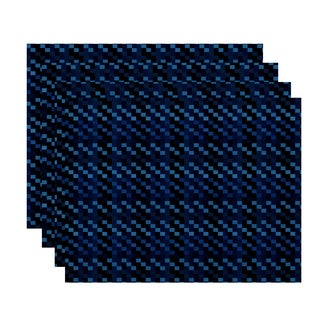 18x14-inch, Mad for Plaid, Geometric Print Placemat (Set of 4)