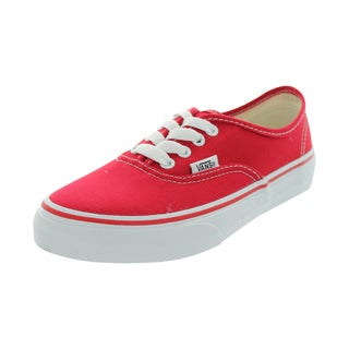 Vans Authentic Skate Shoes (Red)