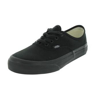 Vans Authentic Skate Shoes (Black/Black)