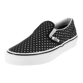 Vans Kid's Classic Slip-On (Perf Hologram) Black/Tr White Skate Shoe