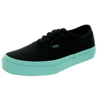 Vans Kid's Authentic (Pop Outsole) Black/Aruba Bl Skate Shoe