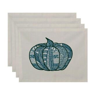 18x14-inch, Pumpkin Patch, Geometric Print Placemat (Set of 4)