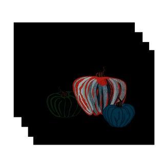 18x14-inch, Pumpkin Spice, Geometric Print Placemat (Set of 4)