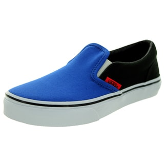 Vans Kid's Classic Slip-On (Canvas) Olympian Blue/Black Skate Shoe