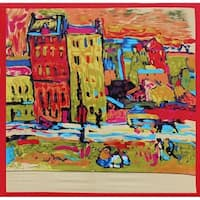 Van Gogh Inspired Street Scene 36-inch Square Silk Touch Scarf
