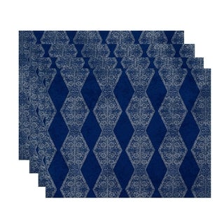 18x14-inch, Pyramid Stripe, Geometric Print Placemat (Set of 4)