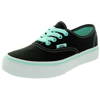 Vans Kid's Authentic (Pop) Black/Blue Tint Skate Shoe