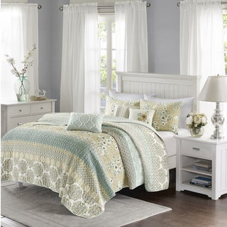 The Gray Barn Sleeping Hills Quilted Green Coverlet Set