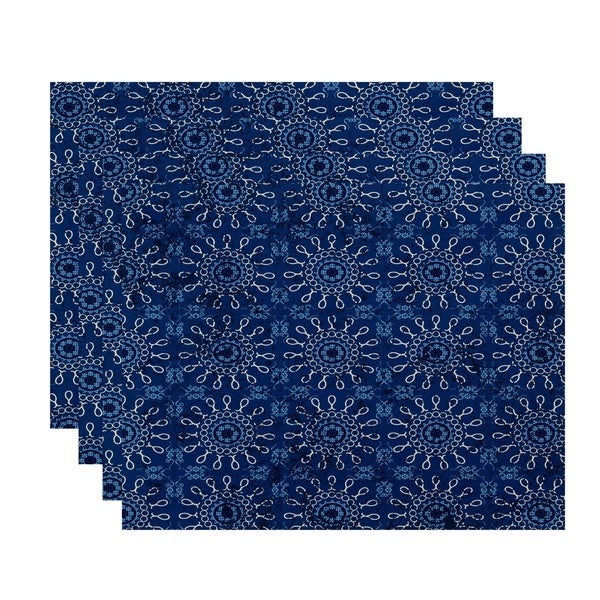 18x14-inch, Sun Tile, Geometric Print Placemat (Set of 4)