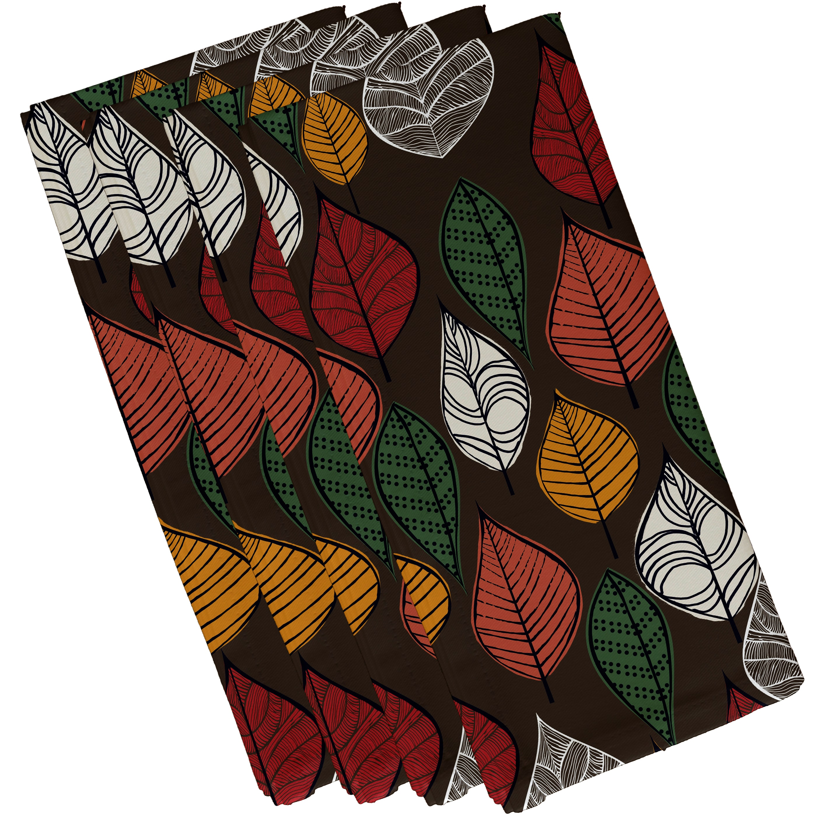 E By Design 19 x 19-inch, Autumn Leaves, Floral Print Nap...