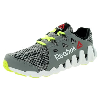 Reebok Kid's Zigtech Big N Fast /Black/Yellow/White Running Shoe