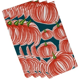 19 x 19-inch, Pumpkins-A-Plenty, Geometric Print Napkin (Set of 4)