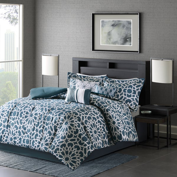 Madison Park Elena Teal Comforter Set