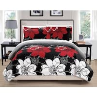 Chic Home Chase Black 3-Piece Quilt Set