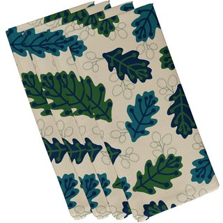 19 x 19-inch, Retro Leaves, Floral Print Napkin (Set of 4)