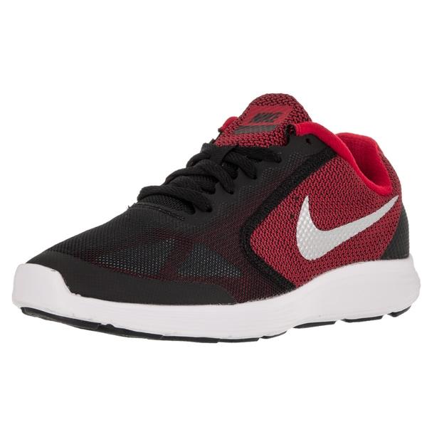 0afec8217a8c Shop Nike Kid s Revolution 3 (Gs) University Red Metallic Silver ...