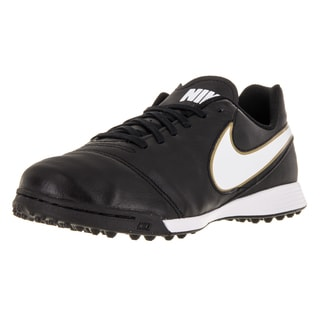 Nike Kid's Jr Tiempo Legend Vi Tf Black/White/Metallic Gold Turf Soccer Shoe