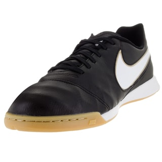 Nike Kid's Jr Tiempo Vi Ic Black/White/Metallic Gold Indoor Soccer Shoe
