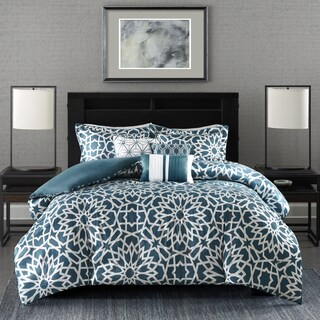 Madison Park Elena Teal Duvet Cover Set