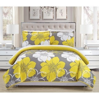 Chic Home Chase Yellow 3-Piece Quilt Set